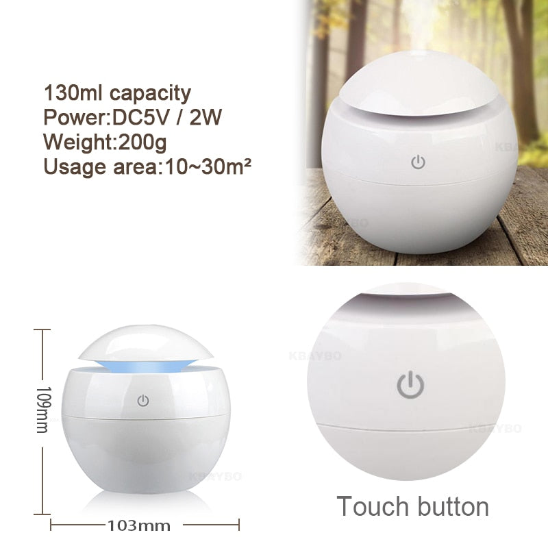 Changeable Aroma Essential Oil Mist Humidifier Diffuser | Air Purifier