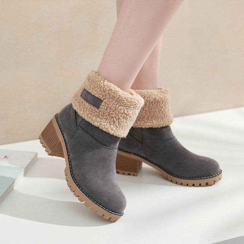 Fur Winter Boots | Short Booties | Ankle Snow Booties | Winter Short Boots | Warm Boots | Winter Warm Boots | Winter Boots