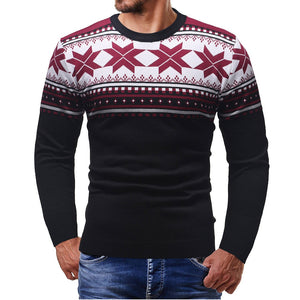 Mens Knitted O-Neck Sweater