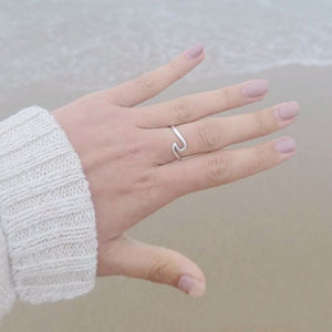Sterling Silver Stone Cut Ring