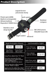 USB Charging Tactical Watch