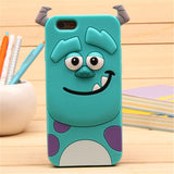 iPhone 3D Cartoon Soft Silicone Case