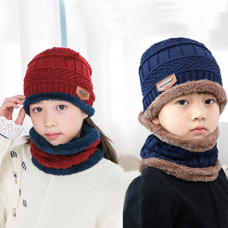 Kids Cashmere Knitted Balaclava | Hat Balaclava Scarf | Hat Scarf Caps | Warm Winter Balaclava | Knitted Balaclava | Scarf & Hat Set