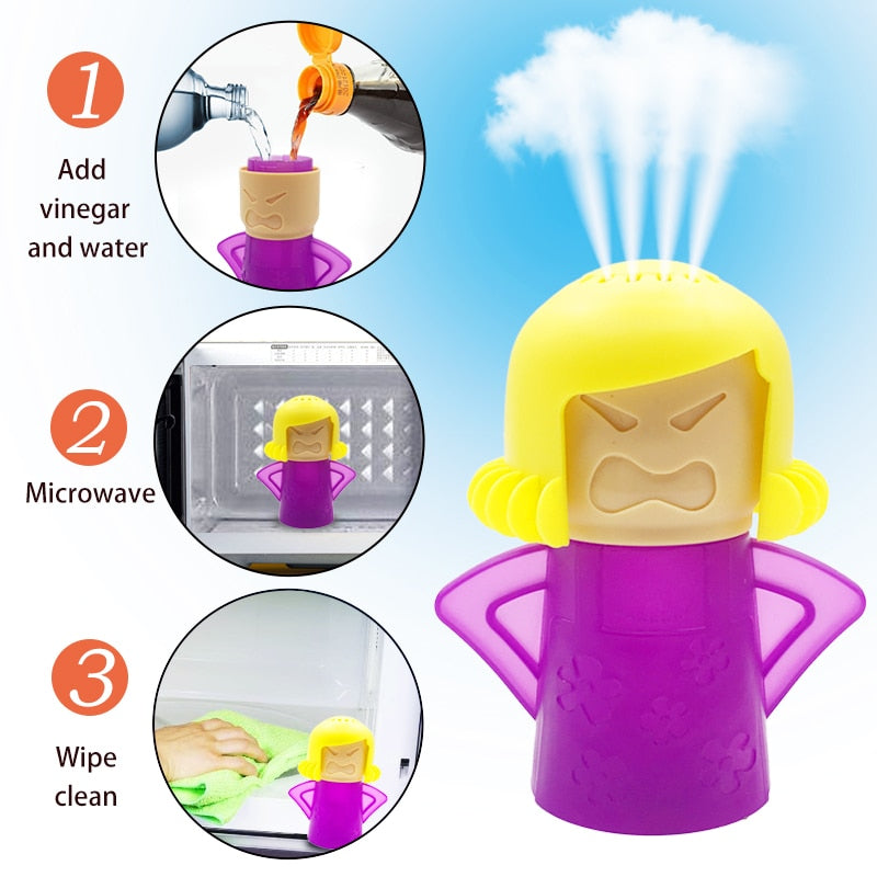 Angry Mama Microwave & Refrigerator Cleaner | Cleaning Equipment