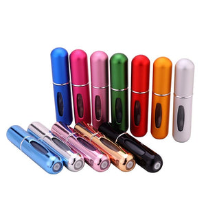 5ml Travel Size Mini Aluminum Refillable Perfume Container With Atomizer