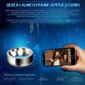NFC Smart Ring | digital finger ring watch | ring watch smart