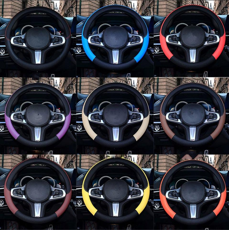 Trendy Leather Steering Wheel Cover | Car Accessories | Steering Wheel Cover