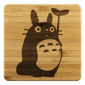 Personalized Bamboo Coaster - Totoro Style 2-Bamboo Diaries