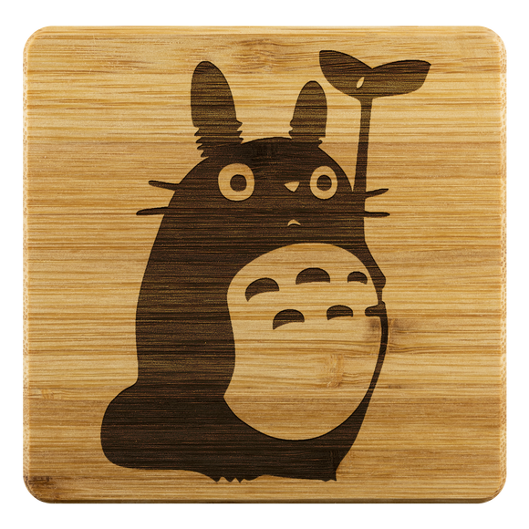 Personalized Bamboo Coaster - Totoro Style 2