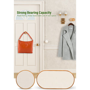 Wall Mounted Bamboo Wooden Coat Hook Rack-Bamboo Diaries