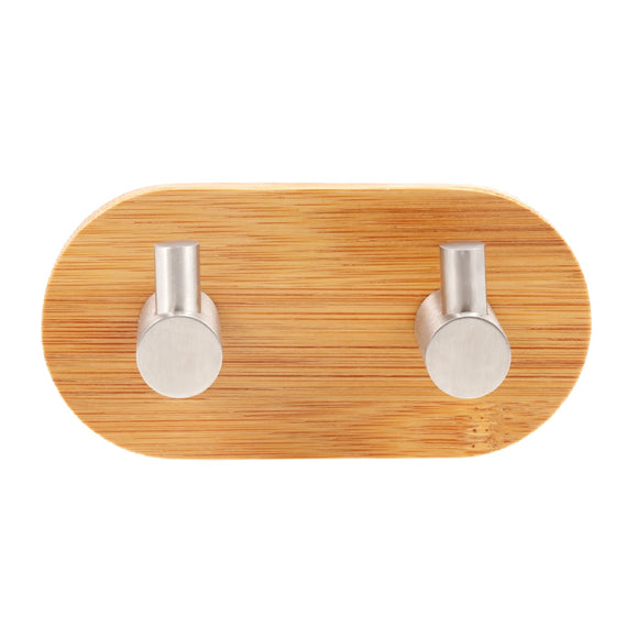 Homeware Wall Mounted Bamboo Wooden Coat Hook Rack - Bamboo DiariesBURLYWOOD / SIZE 2