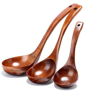 Long Handled Wooden Soup Spoon-Bamboo Diaries