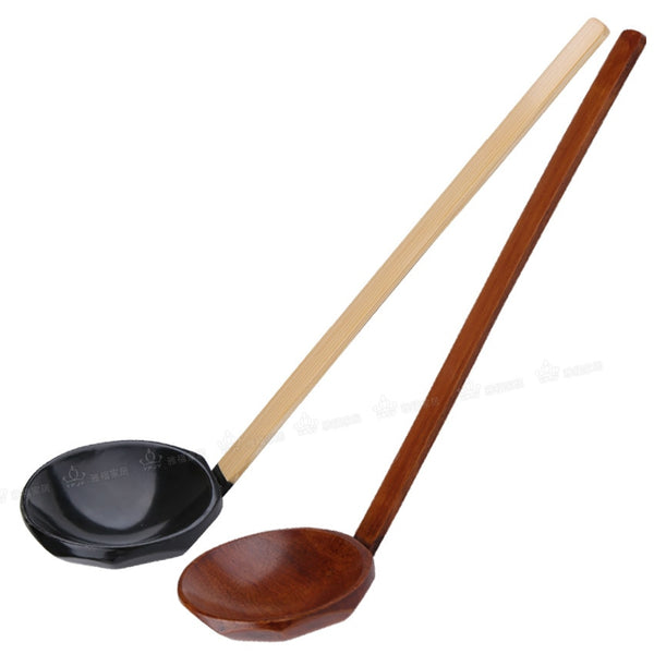 Long handle Bamboo Wooden Soup Spoon-Bamboo Diaries