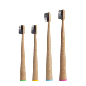 12/lot Eco-Friendly Bamboo Toothbrushes (One year supply of family set)-Bamboo Diaries