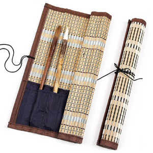 Bamboo Rolling Bag/ Painting Brush Holder-Bamboo Diaries