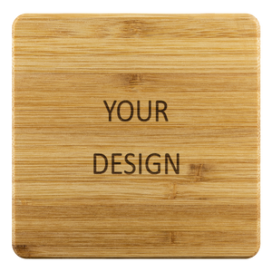 Personalized Bamboo Coaster - Your design-Bamboo Diaries