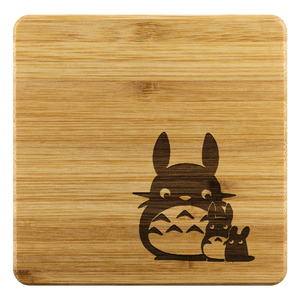 Personalized Bamboo Coaster - Totoro Style 3-Bamboo Diaries
