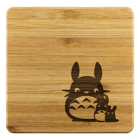 Personalized Bamboo Coaster - Totoro Style 3
