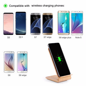 Bamboo Wireless Charger and Phone Stand-Bamboo Diaries