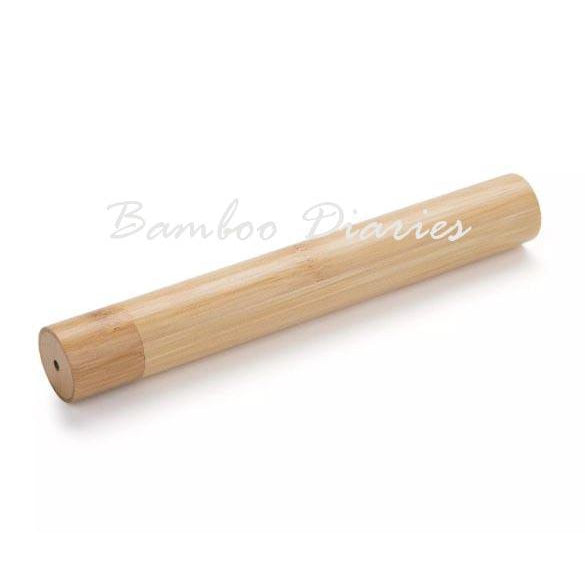 5pcs Travel friendly Bamboo Toothbrush Case-Bamboo Diaries