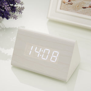 Bamboo Alarm Wood Clock - Sound-activated-Bamboo Diaries