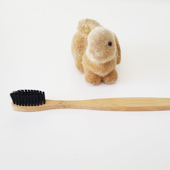 5 pcs/ lot Bamboo Toothbrushes with Charcoal Infused Bristles-Bamboo Diaries