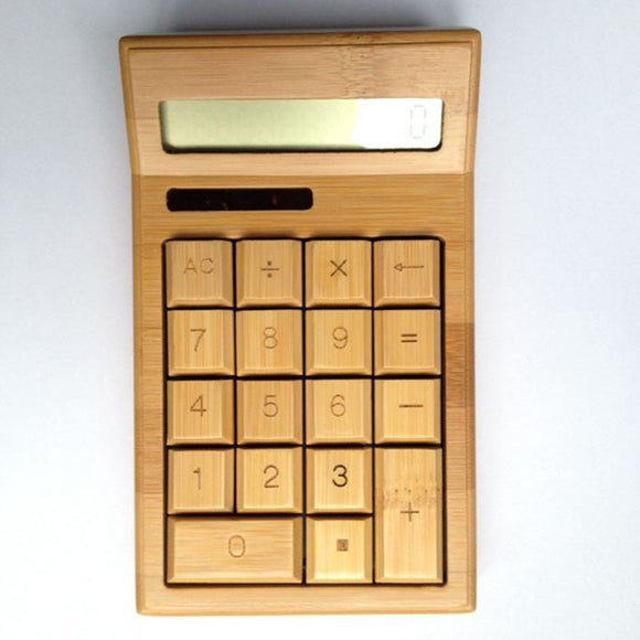 Handmade Bamboo Solar Energy Calculator-Bamboo Diaries
