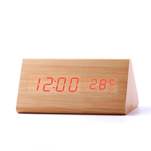 High Quality LED Digital Alarm Wood Clock-Bamboo Diaries