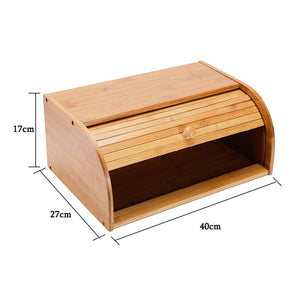 Natural Bamboo Bread Storage Box-Bamboo Diaries