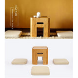 Japanese Style Tatami Tea/coffee table with 4 cushions (with storage) - Bamboo Diaries