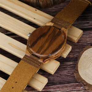 Kakishi Vintage Bamboo Watch with Genuine Leather-Bamboo Diaries