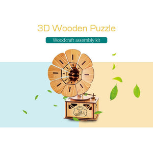 Bamboo 3D Puzzles - Phonograph-Bamboo Diaries