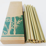 Drinkware Organic Bamboo Drinking Straws (12Pcs/lot) - Bamboo Diaries