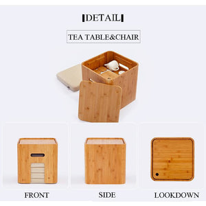 Japanese Style Tatami Tea/coffee table with 4 cushions (with storage)-Bamboo Diaries