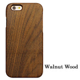 Technology Natural Bamboo/Wood Case For iPhone 5-7 - Bamboo DiariesWalnut Wood / For Iphone 5 5s SE
