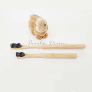 12pcs/lot Eco-Friendly Bamboo Toothbrushes-Bamboo Diaries