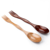 Bamboo Dinnerware - 6pcs Double Head Bamboo Fork Spoon-Bamboo Diaries