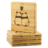 Coasters Personalized Bamboo Coaster - Panda Love - Bamboo Diaries