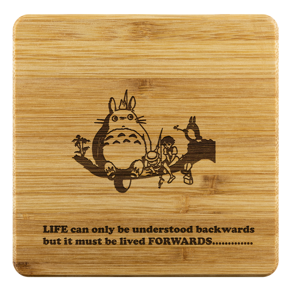 Personalized Bamboo Coaster - Totoro Style 1-Bamboo Diaries