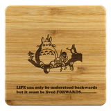 Personalized Bamboo Coaster - Totoro Style 1