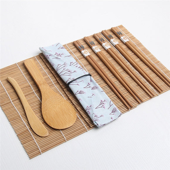 Dinnerware 15pcs Bamboo Sushi Making Kit - Bamboo Diaries