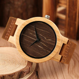 watch Verztyle Vintage Bamboo Wooden Men Watch - Bamboo Diaries