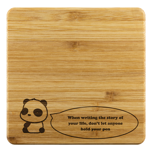 Personalized Bamboo Coaster - Quote of the day-Bamboo Diaries