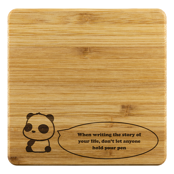 Coasters Personalized Bamboo Coaster - Quote of the day - Bamboo DiariesBamboo Coaster - 4pc
