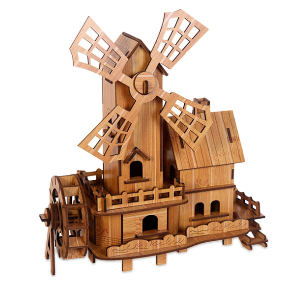 Toy Bamboo 3D Puzzles - Windmill - Bamboo DiariesWindmill