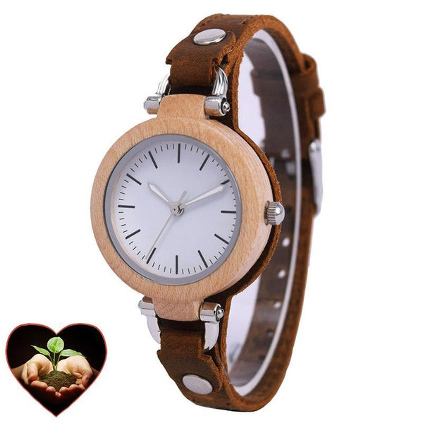Alexandria Bamboo Watch for Women (Green Campaign series)-Bamboo Diaries