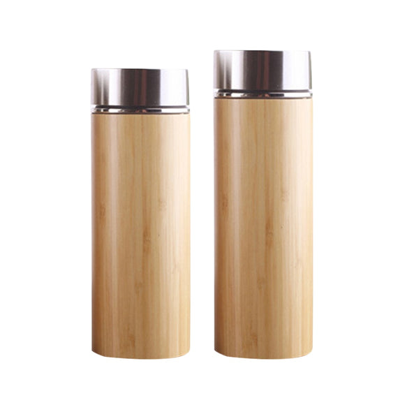 Drinkware Bamboo Travel Thermos Bottles with Tea Strainer - Bamboo Diaries