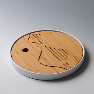 Natural Bamboo Tea Tray with Drainage water storage-Bamboo Diaries