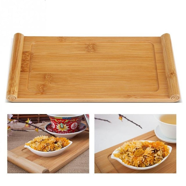 Elegant Bamboo Food Dessert Serving Tray-Bamboo Diaries