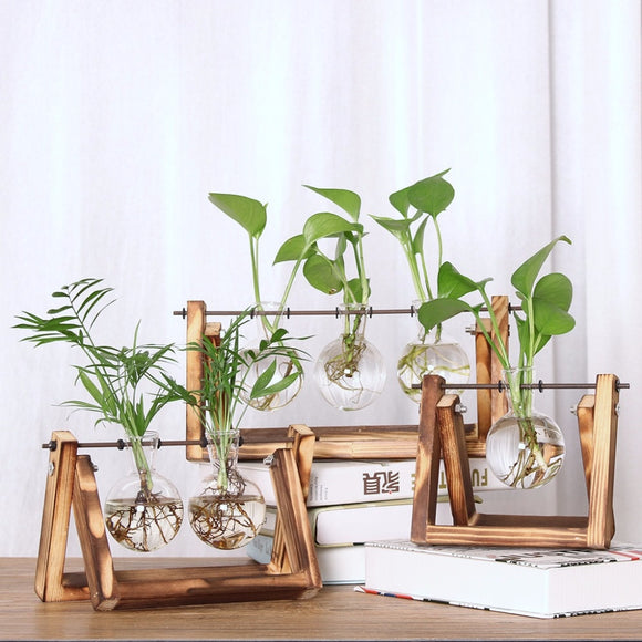 DIY Vintage Planter with Mini Bulb Shaped Vase-Bamboo Diaries